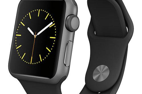 Apple Watch Sport 38mm Smartwatch (Black Sport Band) MJ2X2LL/A