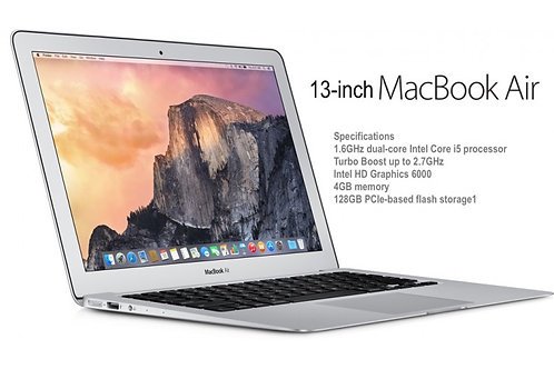 Apple MacBook Air MJVE2LL/A 13-inch Laptop (1.6 GHz Intel Core i5,4GB RAM,128 GB