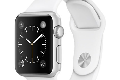 Apple Watch Sport 38mm Silver White Band MJ2T2LL/A (Certified Refurbished)