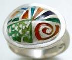 Anel em esmalte sobre prata (2003) Carmen Lombardi