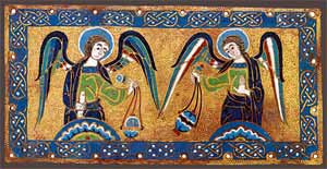 Placa (1170-80) França (Limoges) - Esmalte sobre placa de cobre The Cloisters Collection
