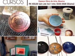Cobre Caramelo: Curso de esmaltação de tigelas e peças de cobre