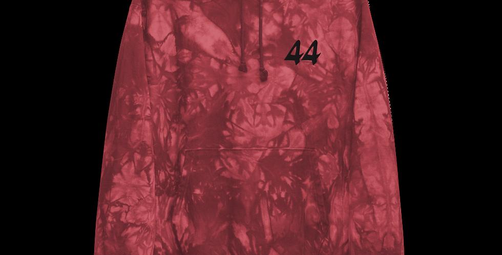 44 Tie Dye Hoodie in Red
