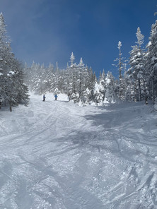 Skiing down Tremblant