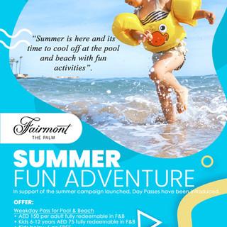 Fairmont the plam Summer Poster