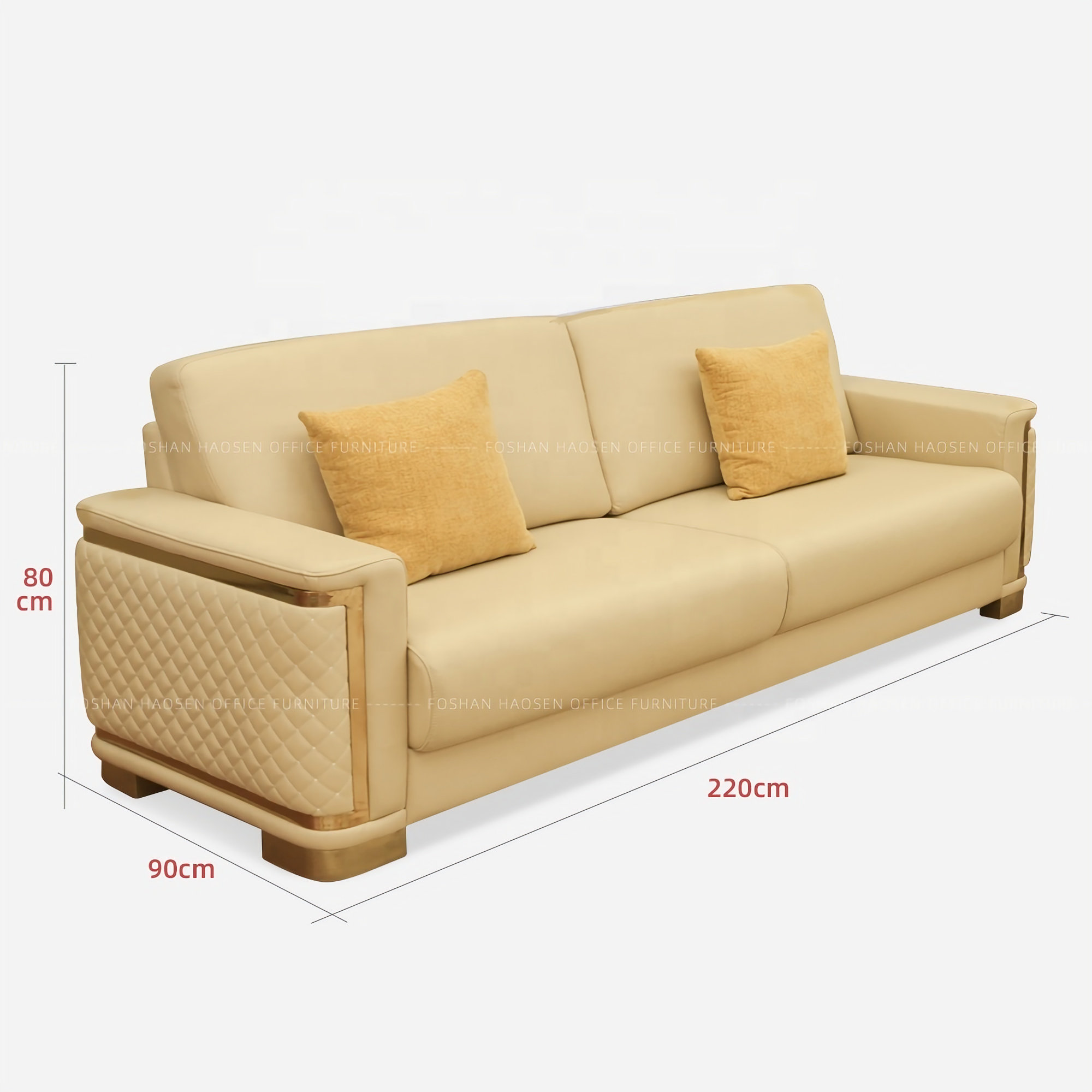 - Luxury Boss Room Genuine Leather Sofa Sectional Office\Home Use