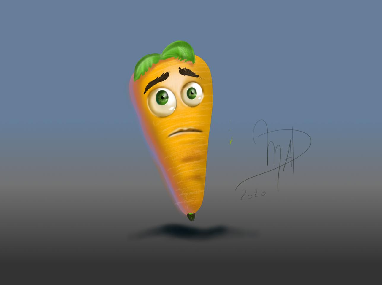 Ilustración zanahoria
