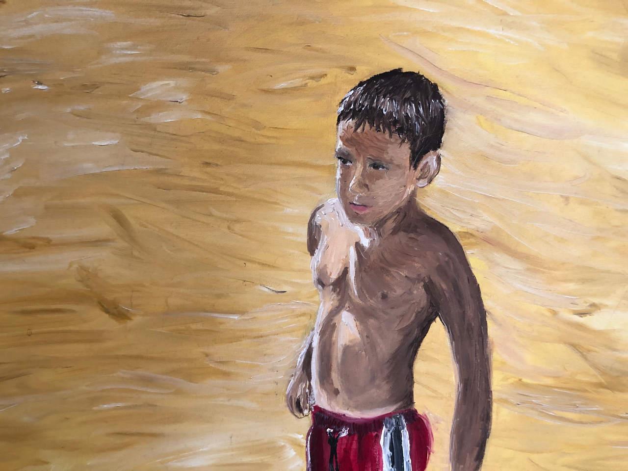 Marco en la playa