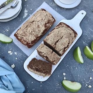 עוגה קצרה - תפוחים וקרמבל עם קמח כוסמין