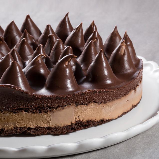 עוגת שוקולד נוגט וקפה עם קמח טף, קוטר 22