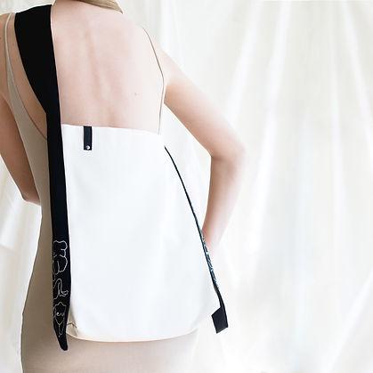 Handmade Shoulder Bag with woman figure print