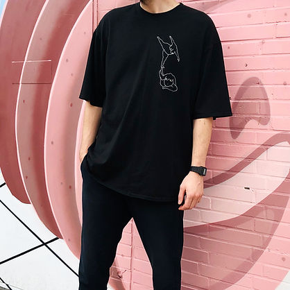 Handmade Oversize T-shirt with print