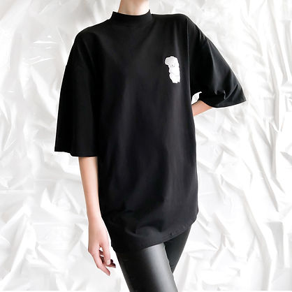 Handmade Oversize Turtleneck T-shirt