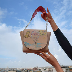 Hand painted and hand made bag