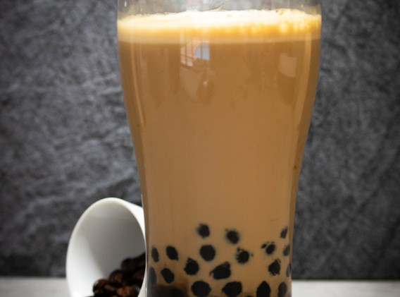Caramel Latte with Tapioca Pearls