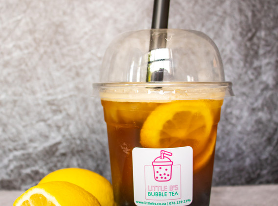 Lemon Black Tea with Blue Berry Bursting Boba