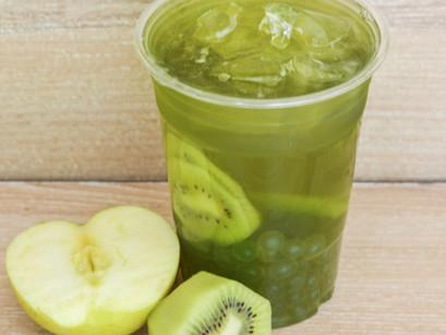 Kiwi Fruit Tea with Apple Boba