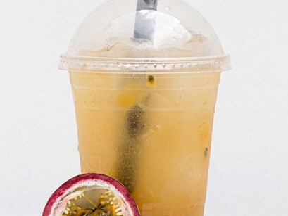 Passionfruit Fruit Tea with Bursting Boba