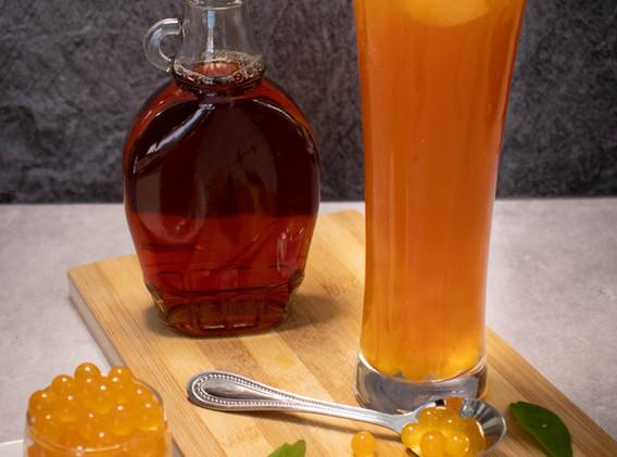 Pineapple Fruit Tea with Bursting Boba