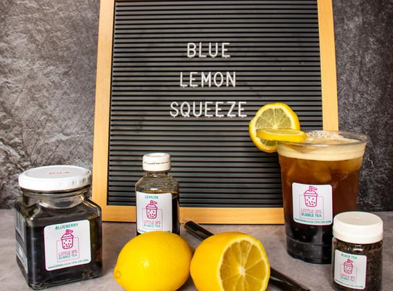 Lemon Black Tea with Blueberry Bursting Boba