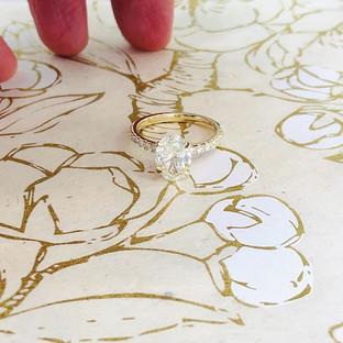 2.01ct Oval Diamond Ring in Yellow Gold #ov