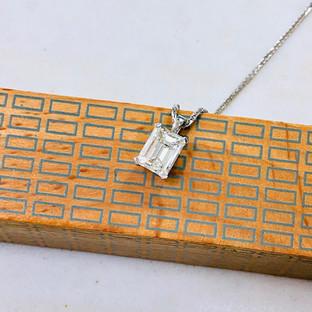 1.80Emerald cut Diamond Pendant
