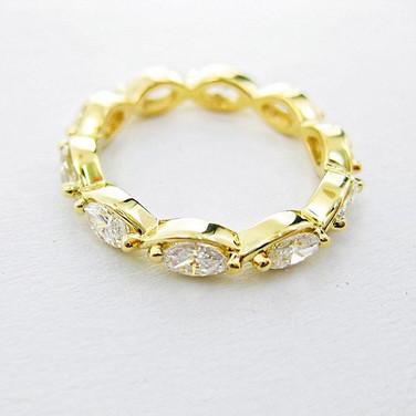 Marquise Eternity band in yellow gold