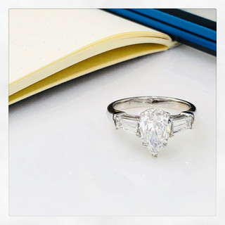 Pear Shape Diamond Ring