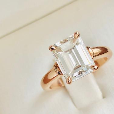 2ct Emerald Cut Diamond Ring