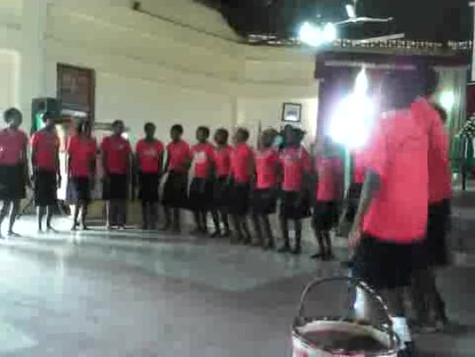 Rescue girls in singing a maasai christian song