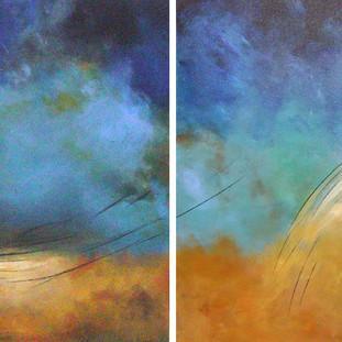 """""""Fenómeno"""" 2007 Acrylic on canvas 80 x 260 cms"""