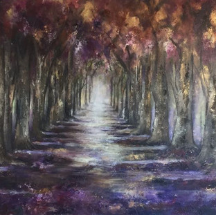 """Camino de Ilusion"" 2011 Mixed media on canvas 130 x 249 cms"