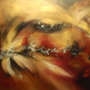 """Pasión Africana"" 2008 Acrylic on canvas 90 x 200 cms"