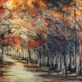 """Camino a la Libertad"" 2013 Mixed media on canvas 140 x 210 cms"