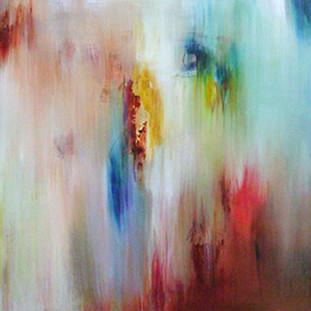 """""""Danza"""" 2007 Acrylic on canvas 70 x 175 cms"""