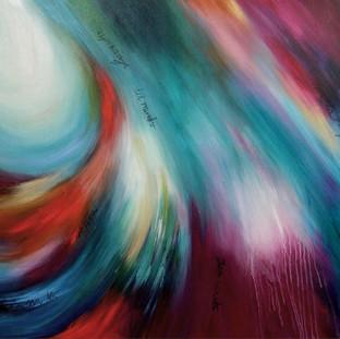 """""""Los Niños son la Esperanza del Mundo"""" 2007 Acrylic on canvas 130 x 200 cms"""