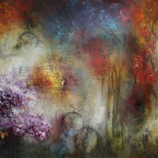 """""""Cuando Solíamos Jugar en las Calles"""" 2011 Mixed media on canvas 120 x 200 cms"""