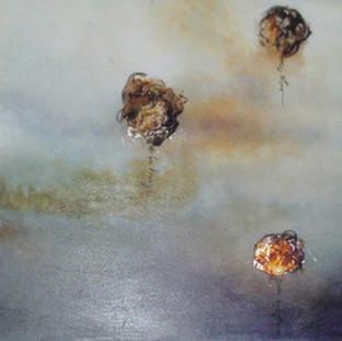 """Divina Comedia"" 2010 Mixed media on canvas 70 x 210 cms"