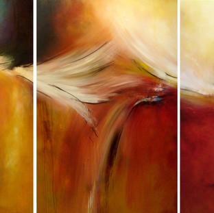 """""""Asian Dreams"""" 2008 Acrylic on canvas 291 x 135 cms"""