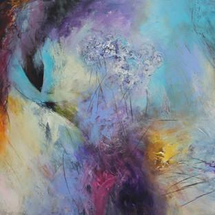 """""""En espera"""" 2012 Mixed media on canvas 120 x 140 cms"""