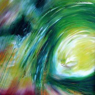 """""""Silent Witness"""" 2007 Acrylic on canvas 180 x 360 cms"""