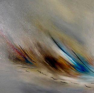 """""""Sueños Distantes"""" 2006 Acrylic on canvas 70 x 200 cms"""