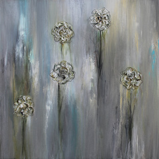"""Falling hopes"" 2011 Mixed media on canvas 100 x 140 cms"
