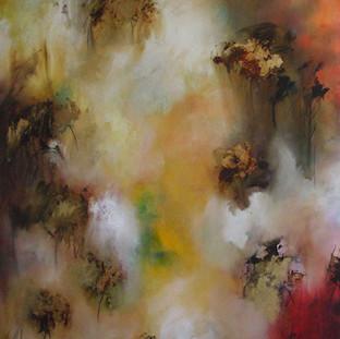 """""""Recibimiento"""" 2007 Mixed media on canvas 205 x 85 cms"""