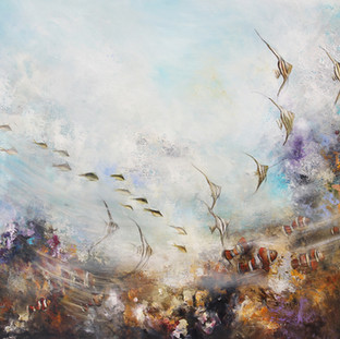 """Au Fond du Toi et Moi"" 2012 Mixed media on canvas 160 x 250 cms"