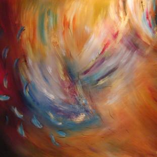 """""""Mañana"""" 2007 Mixed media on canvas 180 x 200 cms"""