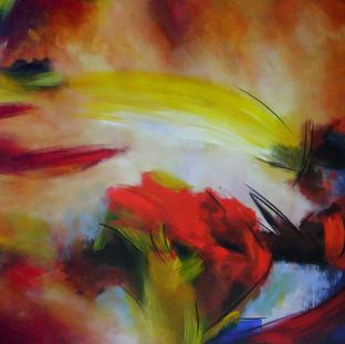 """""""Mi Vida"""" 2007 Acrylic on canvas 110 x 170 cms"""