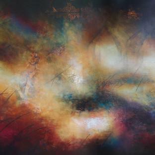 """""""Camino a Seguir"""" 2009 Mixed media on canvas 186 x 275 cms"""