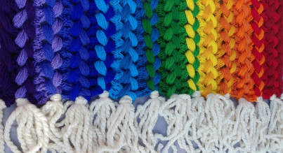the Rainbow Hairpin Lace