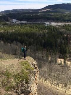 Standing on a cliff that was on the downward path of the loop